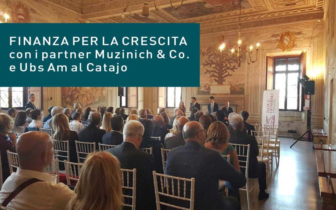 """""""Finanza per la Crescita """"con i partner Muzinich & Co. e Ubs Am al Castello del Catajo"""
