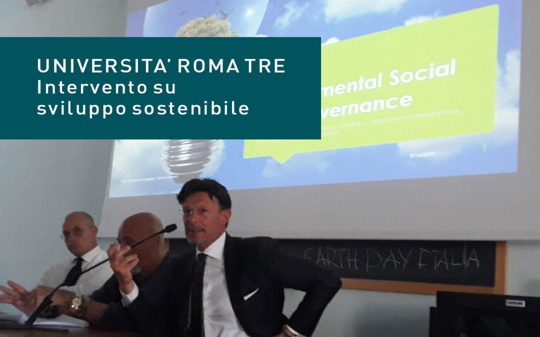 Università Roma Tre: piccolo intervento su grande progetto riguardante lo sviluppo sostenibile.